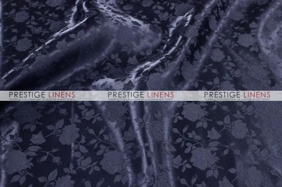 Brocade Satin Table Linen - Navy