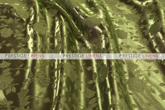 Brocade Satin Table Linen - Olive