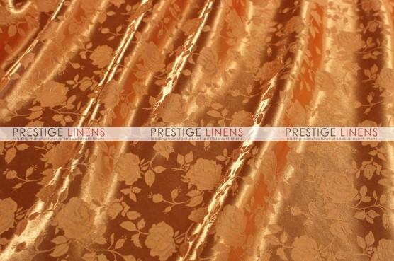 Brocade Satin Table Linen - Orange