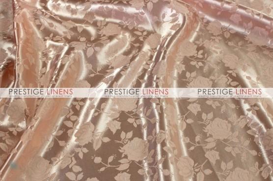 Brocade Satin Table Linen - Peach