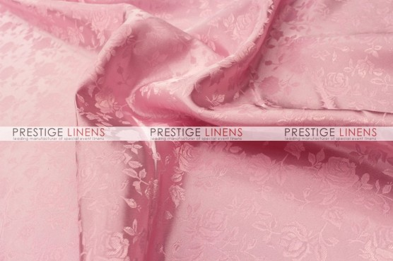 Brocade Satin Table Linen - Pink