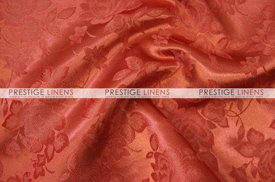 Brocade Satin Table Linen - Rust