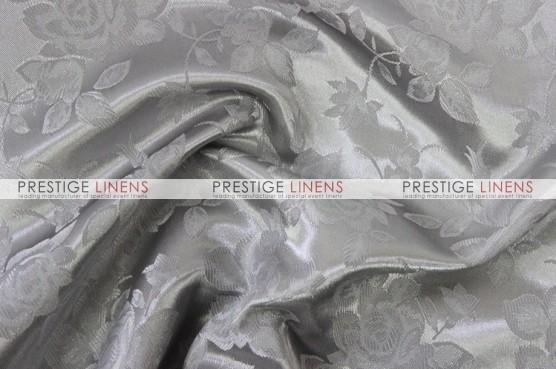 Brocade Satin Table Linen - Silver