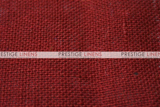 Burlap Table Linen - Red