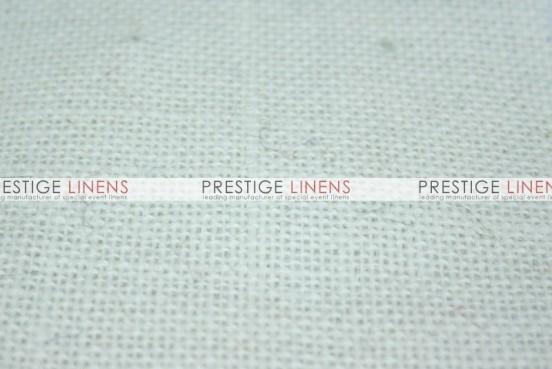 Burlap Table Linen - White