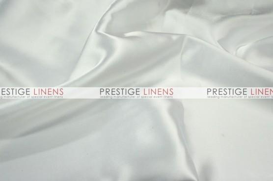 Charmeuse Satin Table Linen - 126 White