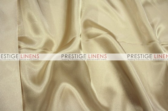 Charmeuse Satin Table Linen - 130 Champagne