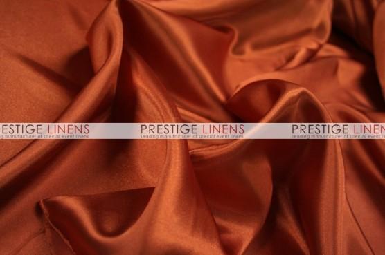 Charmeuse Satin Table Linen - 337 Rust