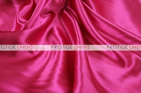 Charmeuse Satin Table Linen - 528 Hot Pink