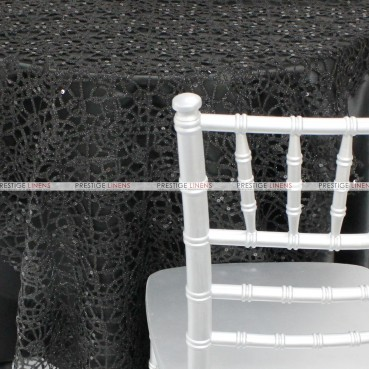 Chemical Lace Table Linen - Black