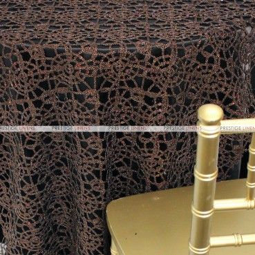 Chemical Lace Table Linen - Brown