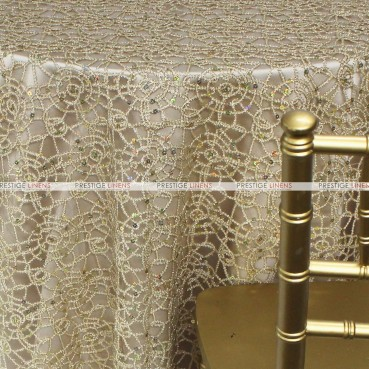 Chemical Lace Table Linen - Champagne