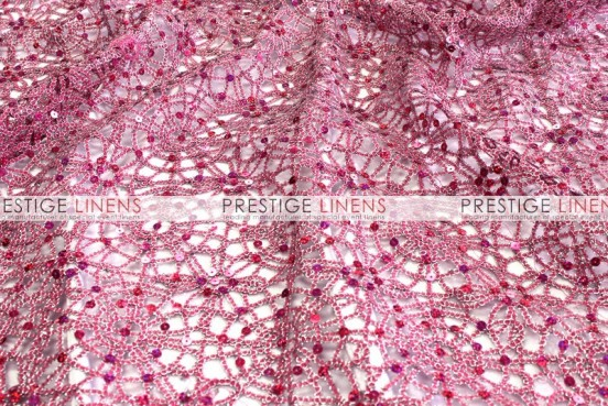 Chemical Lace Table Linen - Fuchsia