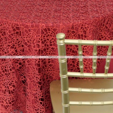 Chemical Lace Table Linen - Red