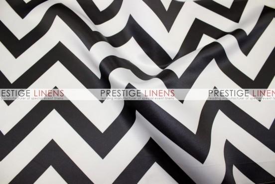 Chevron Print Lamour Table Linen - Black