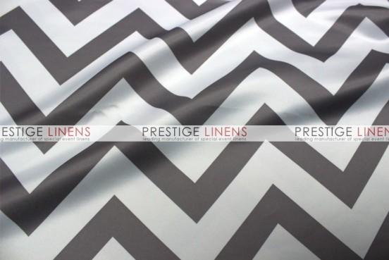 Chevron Print Lamour Table Linen - Grey