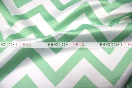 Chevron Print Lamour Table Linen - Mint