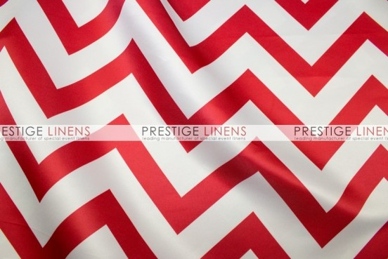 Chevron Print Lamour Table Linen - Red