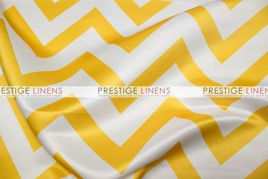 Chevron Print Lamour Table Linen - Yellow