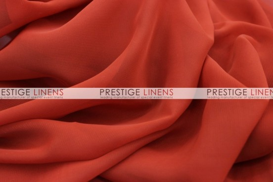 Chiffon Table Linen - Rust