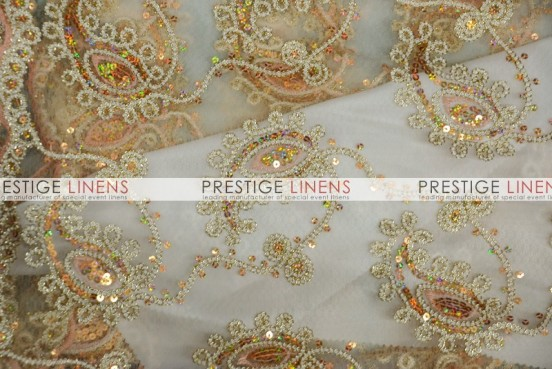 Coco Paisley Table Linen - Champagne