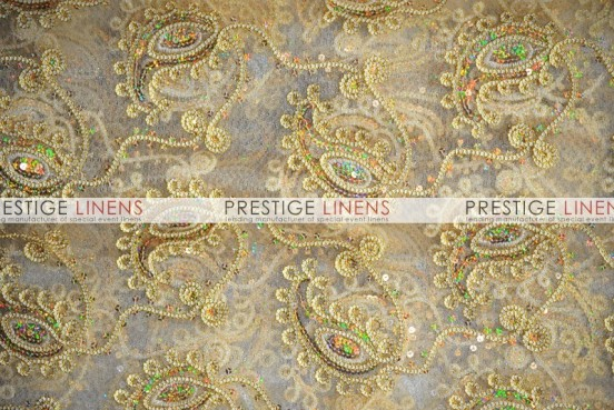 Coco Paisley Table Linen - Gold