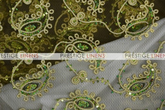 Coco Paisley Table Linen - Olive