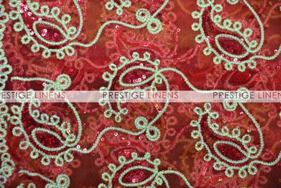 Coco Paisley Table Linen - Red