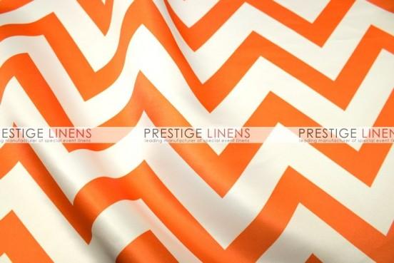 Chevron Print Lamour Draping - Orange