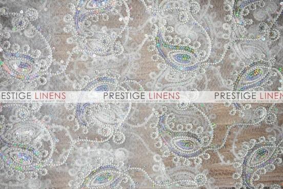Coco Paisley Table Linen - Silver