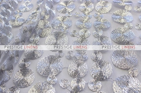Coins Table Linen - Silver