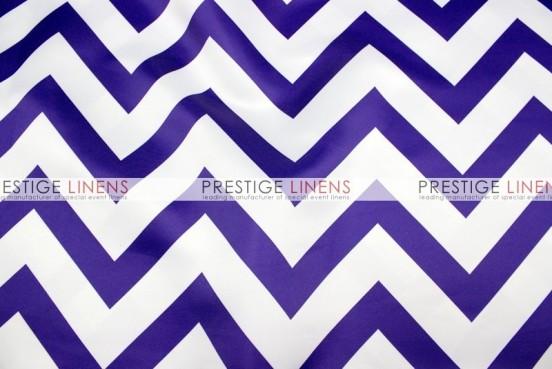 Chevron Print Lamour Draping - Purple