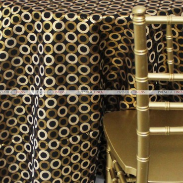 Contempo Table Linen - Gold/Black