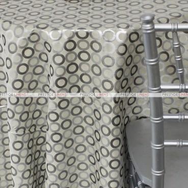 Contempo Table Linen - Silver/Ivory