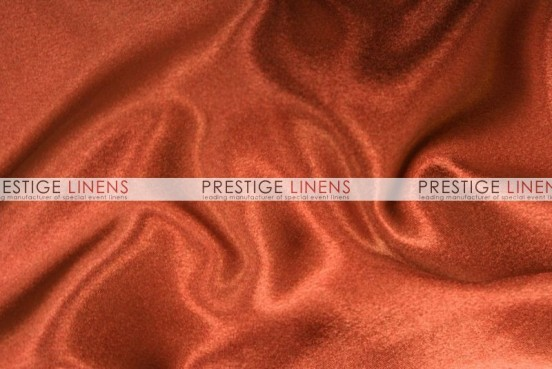 Crepe Back Satin (Japanese) Table Linen - 337 Rust