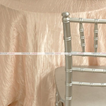 Crushed Taffeta Table Linen - 430 Peach