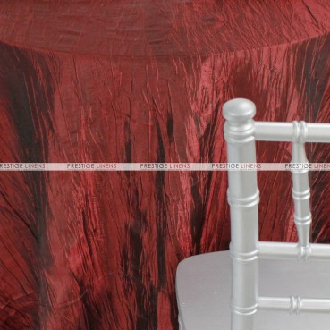 Crushed Taffeta Table Linen - 500 Burgundy