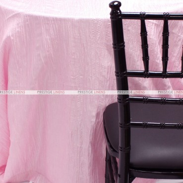 Crushed Taffeta Table Linen - 527 Pink