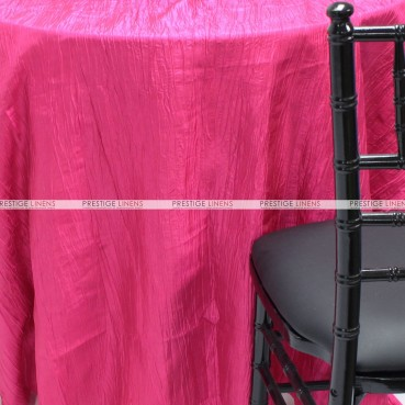 Crushed Taffeta Table Linen - 528 Hot Pink