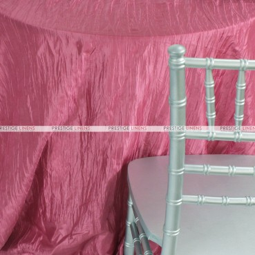 Crushed Taffeta Table Linen - 565 Watermelon