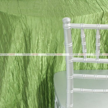 Crushed Taffeta Table Linen - 737 Apple Green