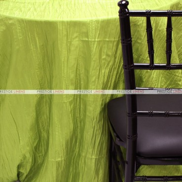 Crushed Taffeta Table Linen - 752 Avocado