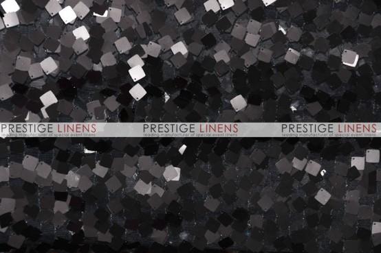 Dazzle Square Sequins Table Linen - Black