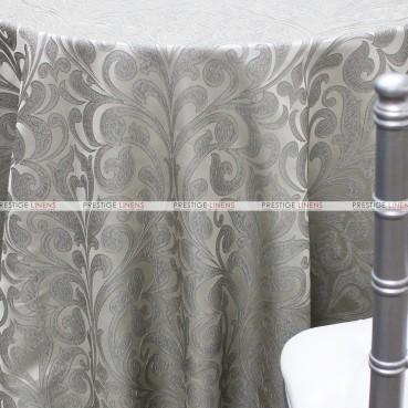 Delta Damask Table Linen - Grey