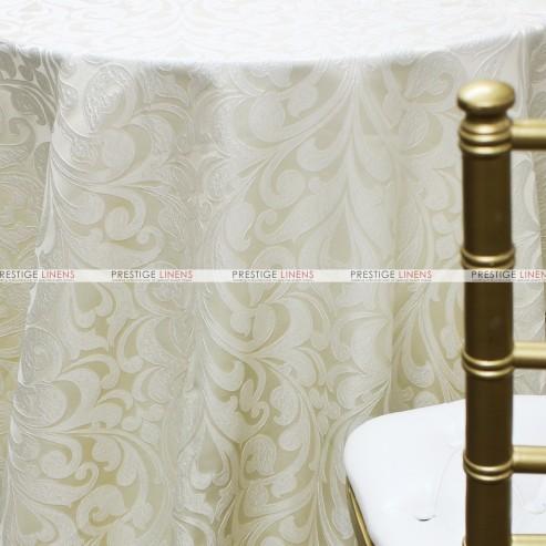 Delta Damask Table Linen Ivory Prestige Linens