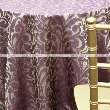 Delta Damask Table Linen - Purple