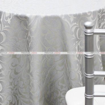Delta Damask Table Linen - Silver