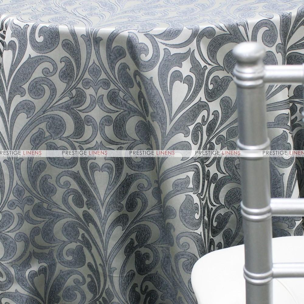 Delta Damask Table Linen Smoke Prestige Linens