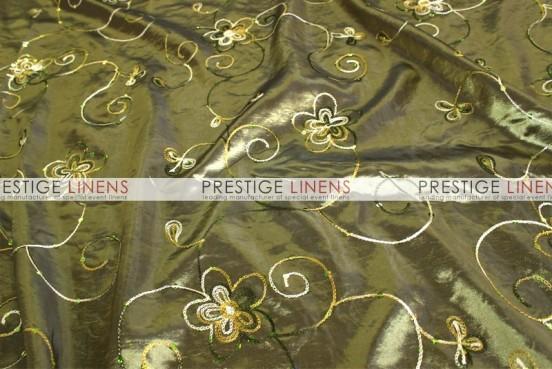 Floral Sequins Taffeta Table Linen - Olive