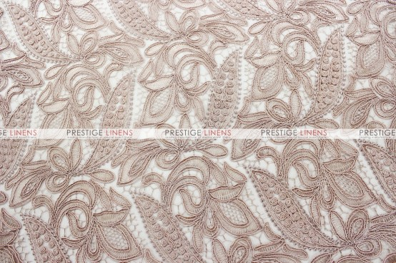 French Lace Table Linen - Blush